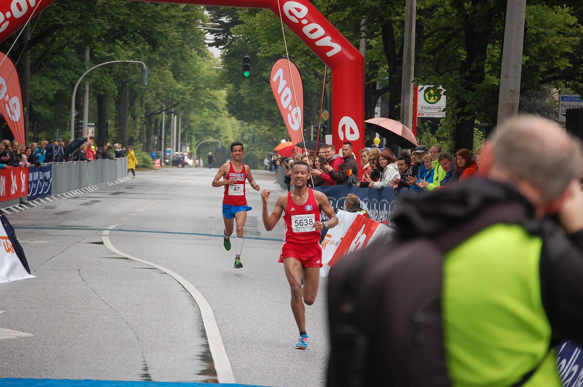 20. hella Halbmarathon: Zieleinläufe bis ca. 1:30